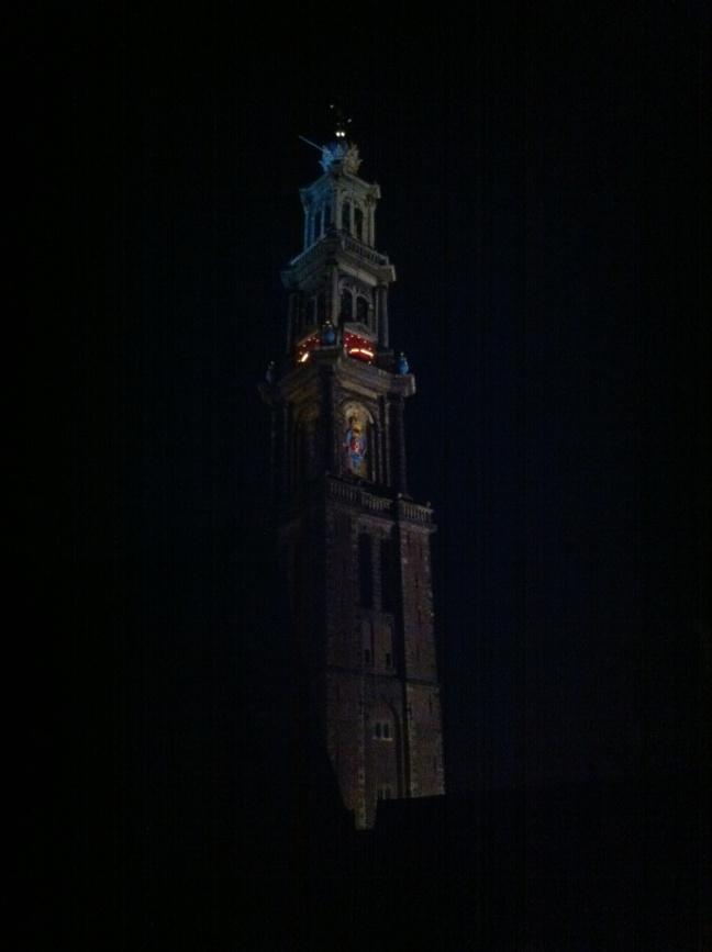 Westertoren di notte
